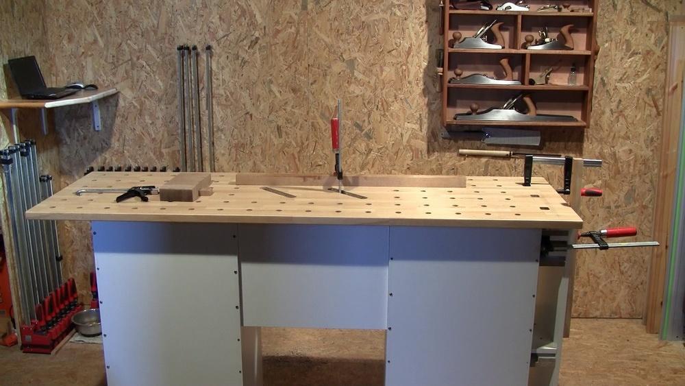 Copain des copeaux videos formation bois 2011 construire un tabli 1i re partie - Fabriquer un etabli de garage ...