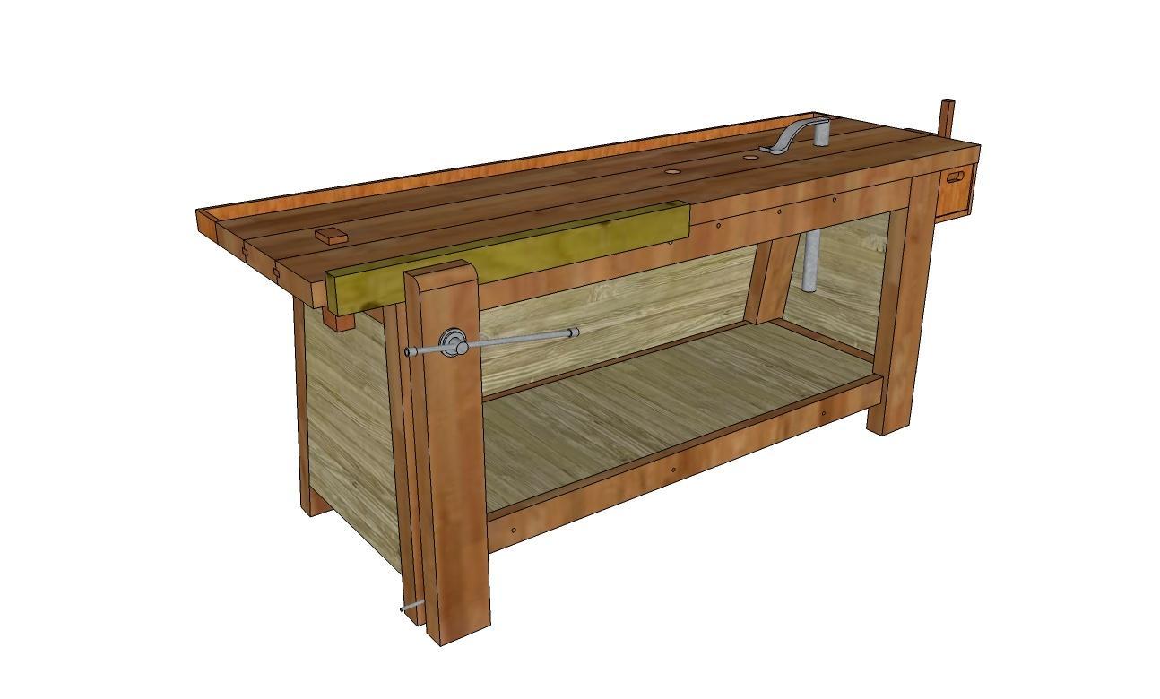 copain des copeaux plans un tabli. Black Bedroom Furniture Sets. Home Design Ideas